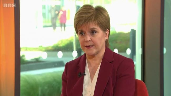 Sturgeon refuses to rule out hard border with England after independence