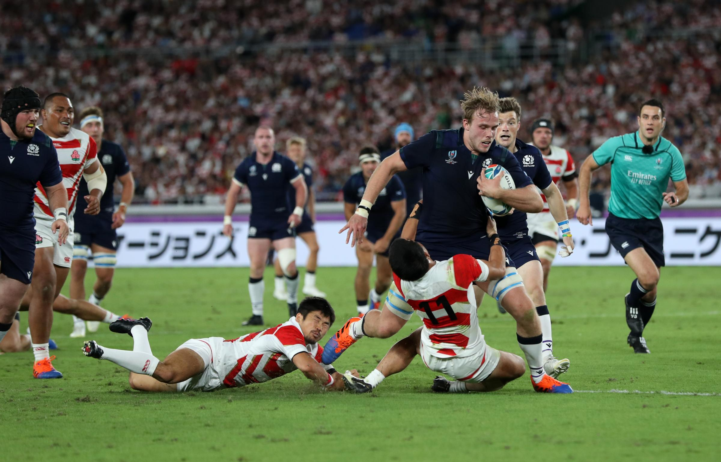 How Scotland players rated in 28-21 defeat to Japan as country knocked out of Rugby World Cup
