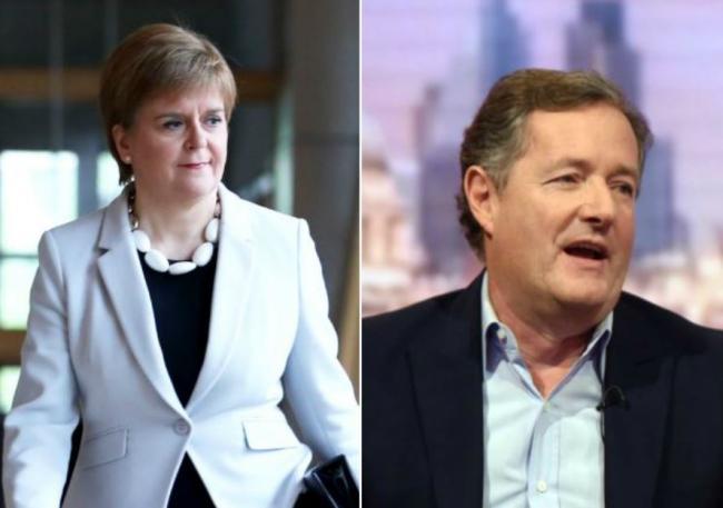 "Piers Morgan ""I can't help liking Nicola Sturgeon, she exudes leadership"""