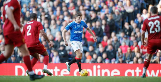 Steven Gerrard turned out for both Rangers and Liverpool during the Legends match at Ibrox on Saturday