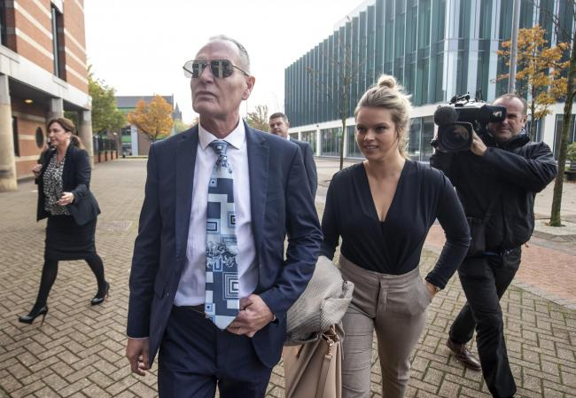 Paul Gascoigne arrives at Teesside Crown Court, where he is appearing on charges of sexually assaulting a woman on a train.