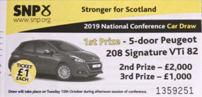 SNP raffe car at conference despite declaring climate emergency