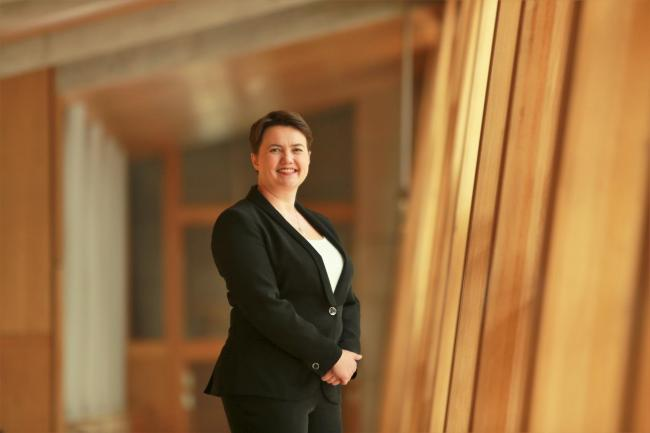Ruth Davidson 1 SA : Scottish Conservative Leader Ruth Davidson at the Scottish Parliament Holyrood.....Picture by Stewart Attwood.