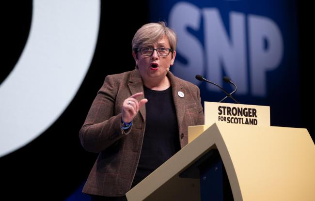 Joanna Cherry, seen here at this week's conference, has been the subject of sniping from within.
