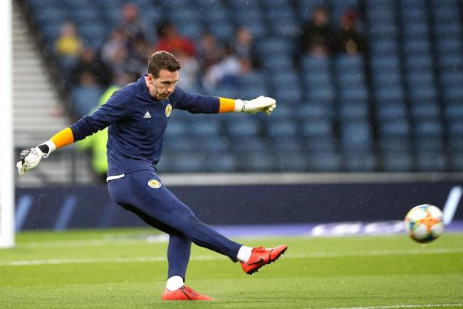 Scotland's goalkeeper Jon McLaughlin warms up ahead of the UEFA Euro 2020 qualifying match at Hampden Park, Glasgow. PA Photo. Picture date: Sunday October 13, 2019. See PA story SOCCER Scotland. Photo credit should read: Steve Welsh/PA Wire. RESTRIC