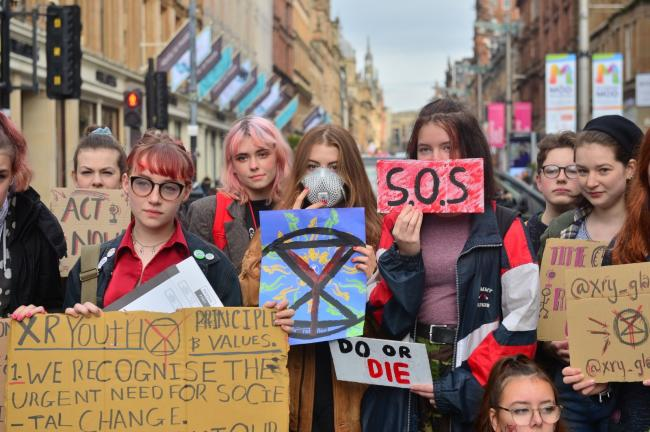 Climate crisis protesters in Glasgow