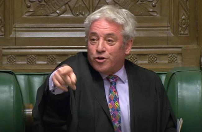 John Bercow refuses to allow 'meaningful vote' on Boris Johnson's Brexit deal today