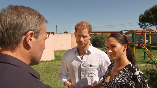 Prince Harry and Meghan Markle discussed discussed their struggles with mental health during an interview with ITV's Tom Bradbury. Picture: ITV.