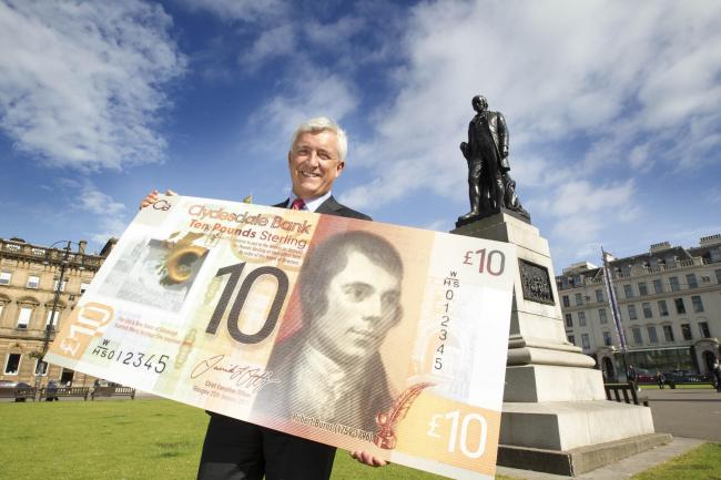 CYBG chief executive David Duffy at the launch of a Clydesdale Bank £10 note  Picture: Peter Devlin/PA Wire/Clydesdale Bank