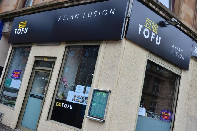 Asian Fusion Tofu Restaurant, Dumbarton Road, Glasgow.Picture: Kirsty Anderson