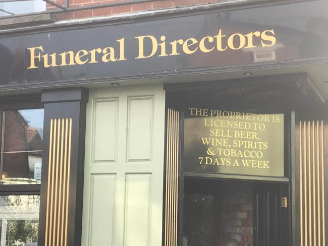 Fraser Hamilton came across this rather unusual pub/funeral directors combo in Dundalk, Ireland. Fraser is now curious to know what sort of spirits this joint is selling.