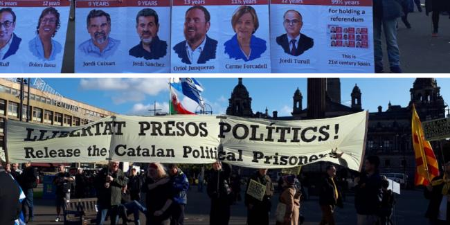 Demonstration in support of Catalan political prisoners held in Glasgow