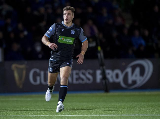 Huw Jones scored a consolation try for Glasgow