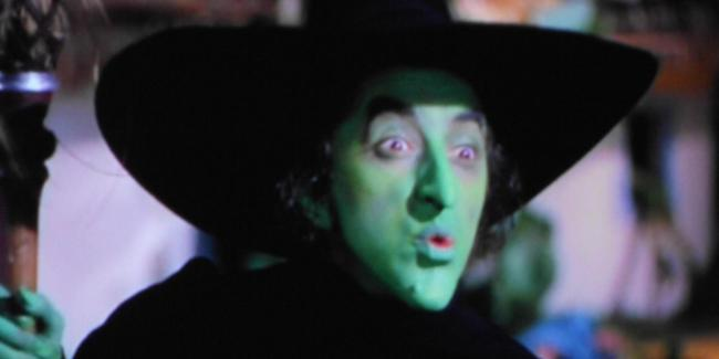 The Wicked Witch of the West, played by Margaret Brainard Hamilton in The Wizard of Oz.