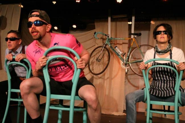 Tom McGovern, Mick Cullen and Janet Coulson in Marco Pantani:The Pirate