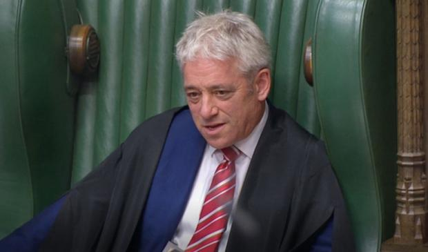 HeraldScotland: Speaker John Bercow during Prime Minister's Questions in the House of Commons, London.
