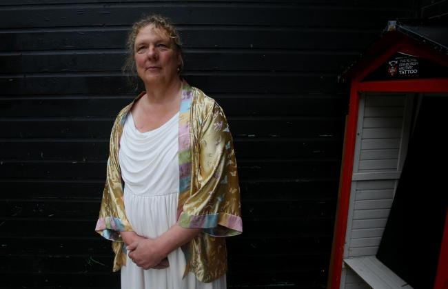 Jo Clifford as Jesus, Queen of Heaven at Edinburgh's Summerhall. The fringe show 'The Gospel According to Jesus, Queen of Heaven' runs until 30th August except mondays and tuesdays. STY MILLER.Pic Gordon Terris/The Herald.12/8/15.