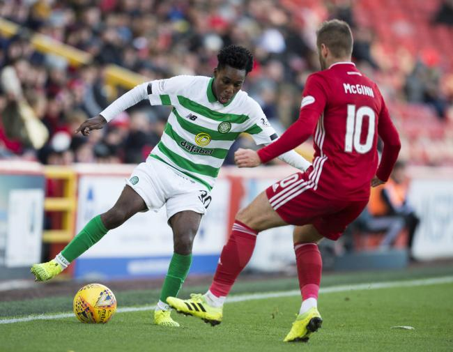 Jeremie Frimpong joined Celtic from Manchester City on transfer deadline day PHOTO: SNS