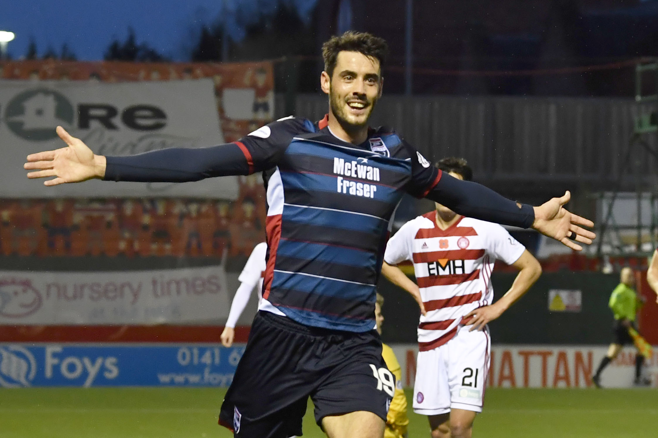 Brian Graham scores late equaliser as Hamilton and Ross County share spoils