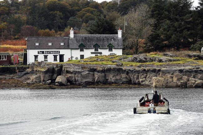 The ferry drives across to the Isle of Ulva, off Scotland's west coast, which has a population of six.
