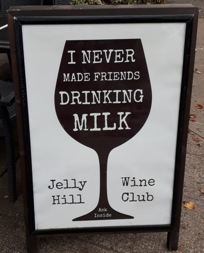 CAPTION: David Donaldson spotted this sign outside the Jelly Hill café in Hyndland. He's not sure the Association of Breastfeeding Mothers would agree with the sentiment.