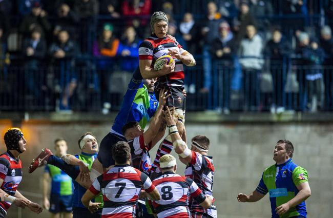 Stirling County and Boroughmuir locked horns in the inaugural Super 6 match last week