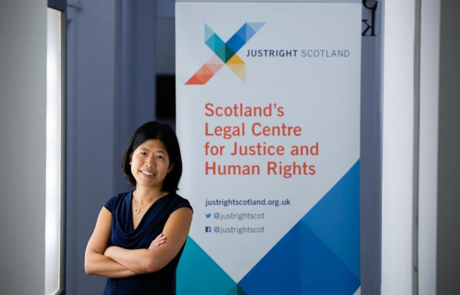 Jen Ang co-founded social justice organisation JustRight Scotland two years ago. Picture: Martin Shields.