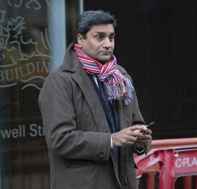 Pictured is Ninan Chacko, CEO of Travel Leaders Group leaving the Employment Tribunal centre at  Eagle House, Bothwell Street, Glasgow. ..Re. Bill Munro, the founder and former owner of Barrhead Travel who is suing the new owners of Barrhead Travel for un