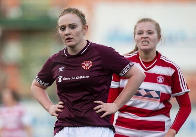 Hearts 'Lauren Evans with Megan Quinn