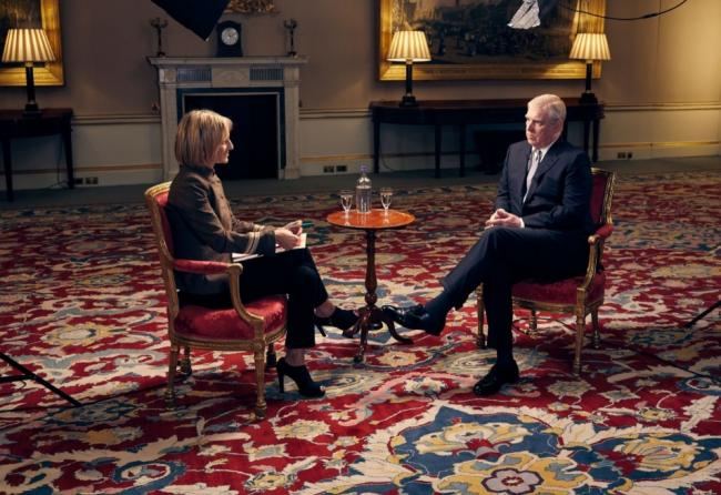 Prince Andrew is interviewed by Emily Maitlis