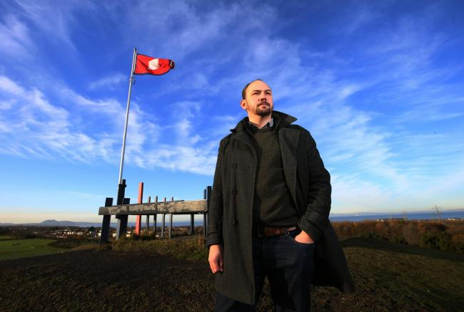 Battlefield expert Arran Johnston at the site of the battle of Prestonpans. STYSMITH. Pic Gordon Terris/The Herald.18/11/19.