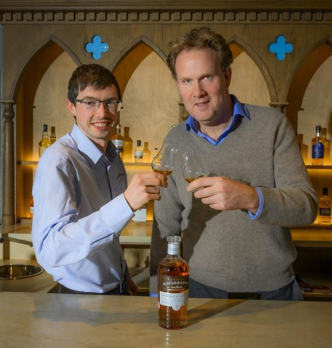William Wemyss, left, with distillery manager Peter Holroyd
