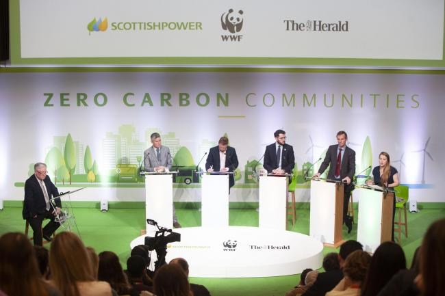 The event, hosted by journalist Bernard Ponsonby at ScottishPower's headquarters in Glasgow, featured representatives from the five main Scottish parties.