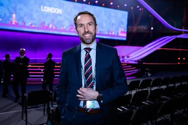 Gareth Southgate was wary of making too many predictions after the draw. Picture: Getty via UEFA