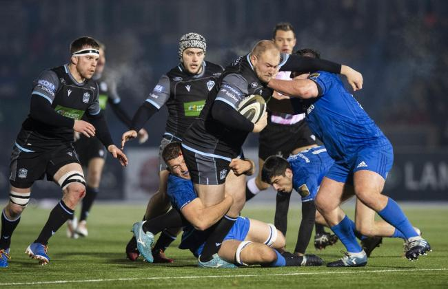Glasgow Warriors' Adam Nicol tries to break through during their defeat to Leinster at Scotstoun last night
