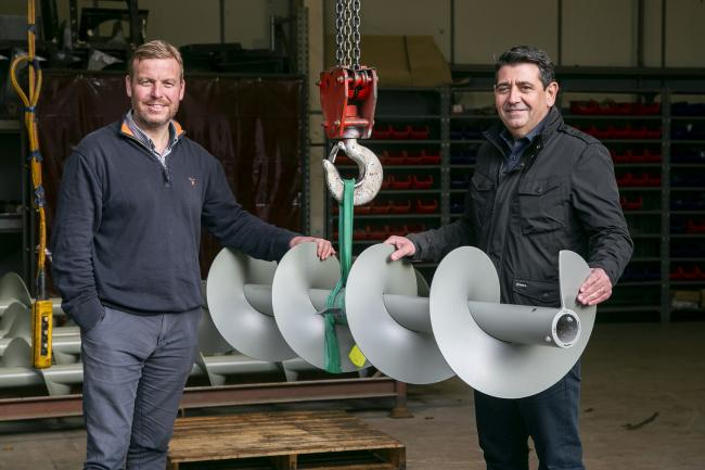 Kris Hunter, left, and Neil Thomson of Spiral Services