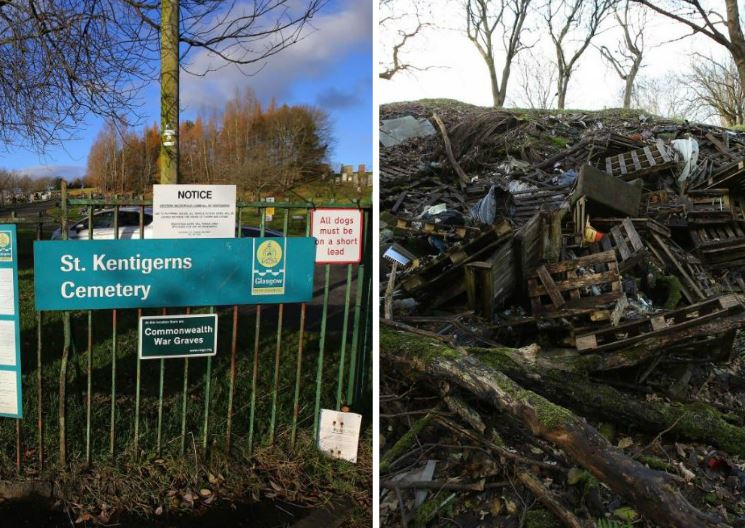 Council whistleblower tells of horrific fly-tipping in Glasgow cemeteries