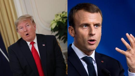 Donald Trump ignites diplomatic row with 'nasty' President Macron