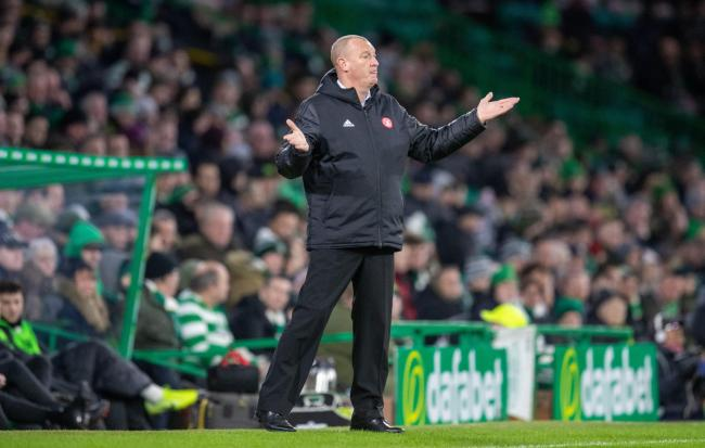 Hamilton manager Brian Rice at Parkhead. Picture: Kenny Smith/PA Wire.