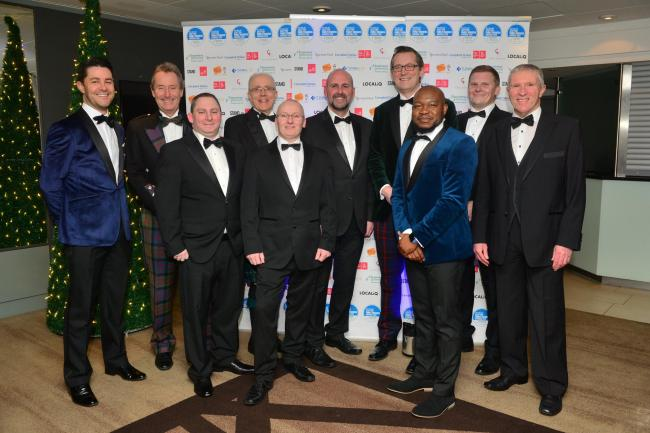 The James Donaldson team celebrate its success