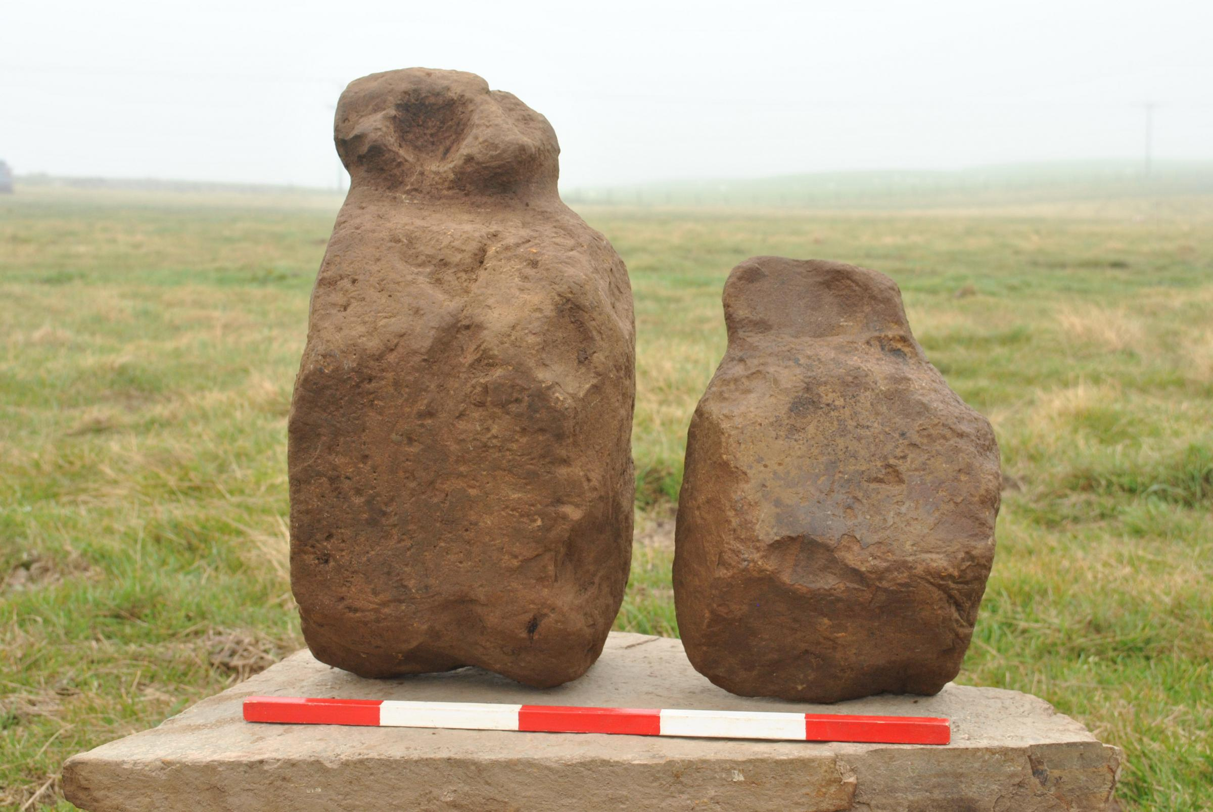 Orkney archaeological find may be ancient 'figure' stones