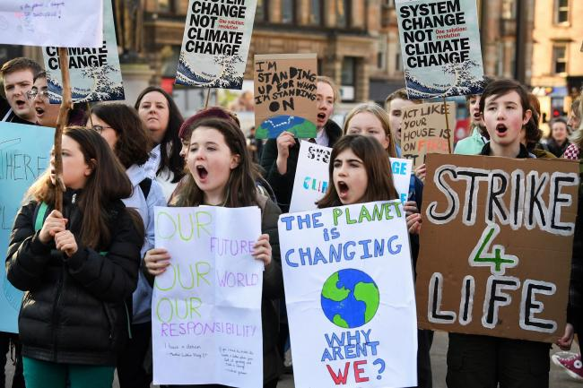 Climate change has sparked youth-led protests around the globe; investors can help fund the solution. Picture: Getty.