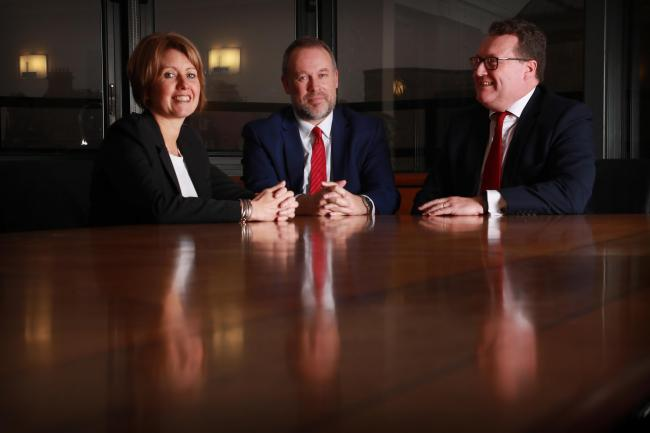 Left to right are Susanne Godfrey, Bruce Farquhar and Murray McCall of Anderson Strathern. By Stewart Attwood