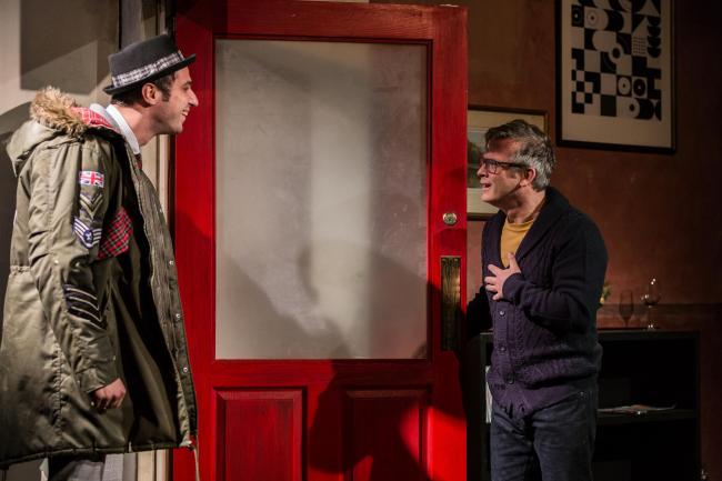 Nebli Basani as Jimmy and Paul McCole as Stevie in I Can Go Anywhere by Douglas Maxwell at the Traverse Theatre, Edinburgh. Image by Lara Cappelli