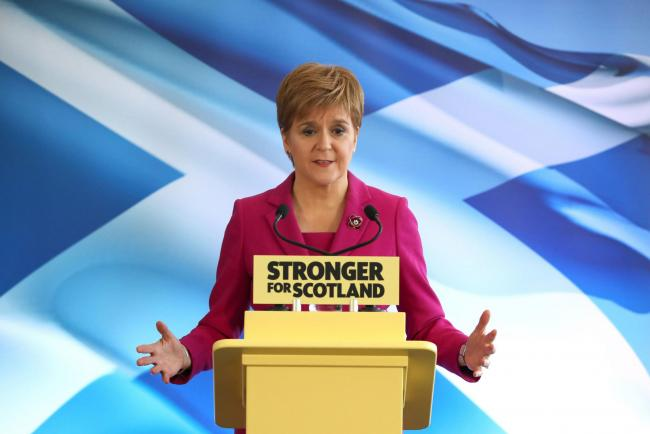 PA Review of the General Election 2019 08/11/19Scottish National Party(SNP) leader Nicola Sturgeon speaks at the party's General Election campaign launch in Edinburgh. PA Photo. Issue date: Wednesday December 11, 2019. Photo credit should read: And