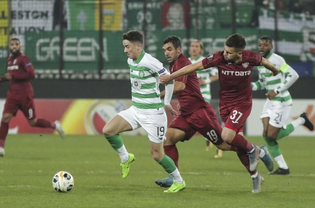 Mikey Johnston impressed as Celtic fell to defeat in Cluj.
