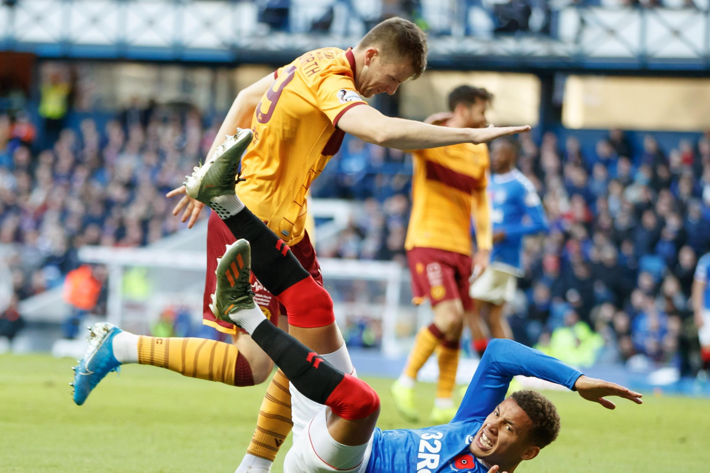 Liam Polworth was pleased to hear Steven Gerrard's words of praise after Motherwell's defeat to Rangers at Ibrox