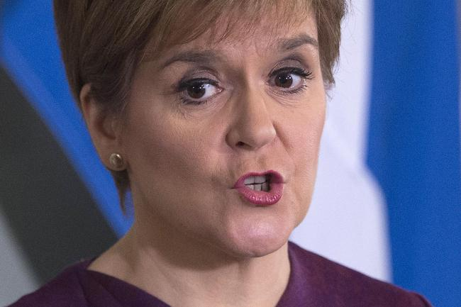 Scotland's First Minister Nicola Sturgeon sets out the case for a second referendum on Scottish independence, during a statement at Bute House in Edinburgh. PA Photo. Picture date: Thursday December 19, 2019. See PA story POLITICS Scotland. Photo cred