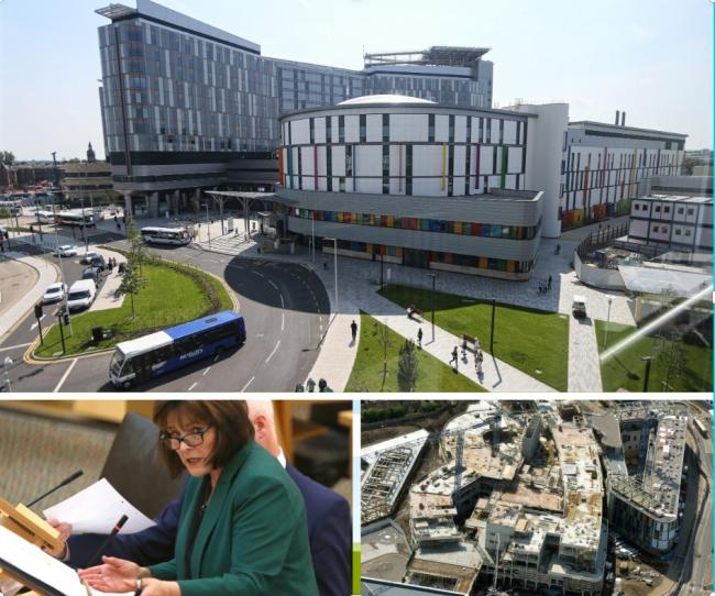 The QEUH campus in Glasgow (top) and the new Edinburgh children's hospital have dominated headlines this year, with Health Secretary Jeane Freeman eventually announcing a public inquiry into their construction