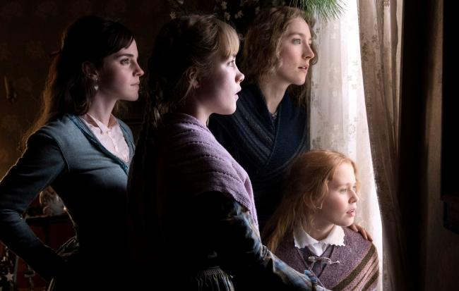 Emma Watson as Meg March, Florence Pugh as Amy March, Saoirse Ronan as Jo March and Eliza Scanlen as Beth March. PA Photo/Columbia Pictures